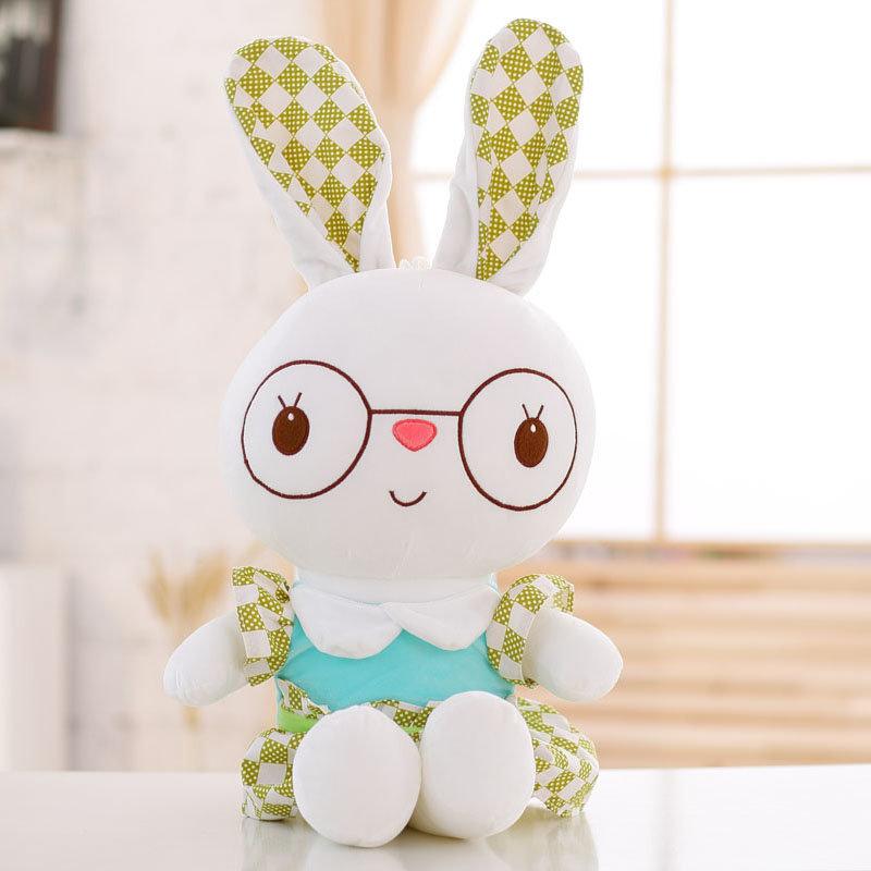 【小清新兔子创意礼品小清新兔子-绿加薄荷绿70cm图片