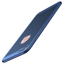 iPhone8/7/X手機殼 iphone6s 6splus 5/5S/se蘋果x手機殼手機套保護殼保護套磨砂硬殼散熱(藍色 iPhone7)