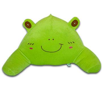可爱抱枕大号卡通护腰枕腰垫u型枕靠枕办公室 床头靠垫背护颈枕(绿色