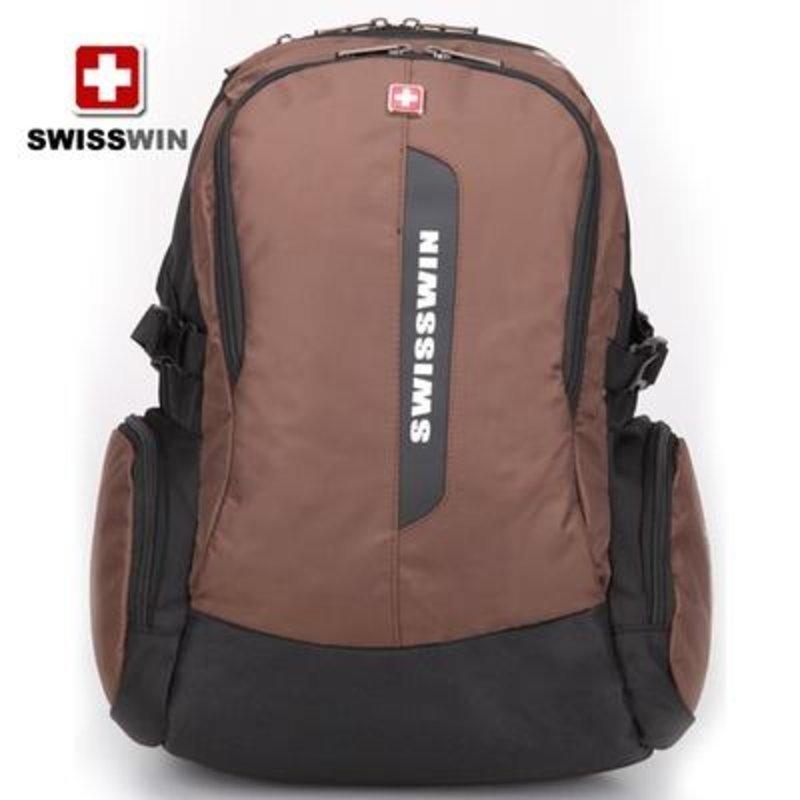 swisswin瑞士军刀双肩电脑背包时尚旅行背包学生书包男女生sw8351图片