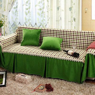bolly宝莱国际 超柔欧式布艺沙发罩(绿色生活 三人座套200*300cm)