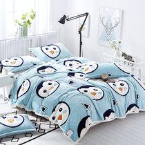 南极人法兰绒毯子毛毯 四季毯法莱绒午睡毯单双人空调毯 企鹅宝宝(企鹅宝宝)