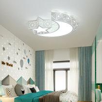 詩斑迪 北歐星型led臥室房間吸頂燈 現代簡約書房燈具兒童房 創意燈飾(啞白版)(單色 正白光 45cm)