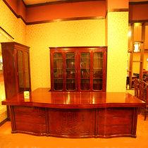 红木家具2.8米红木书桌?#30340;?#21150;公桌大班台老板桌红檀木(其他 椅子)