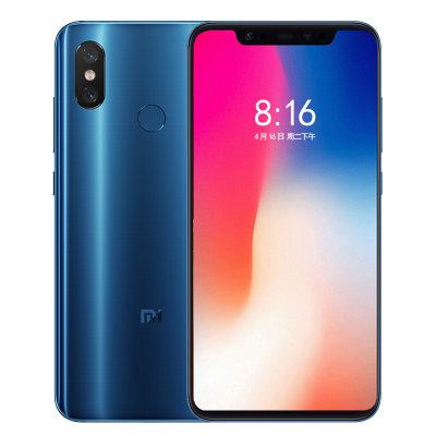 2399元包邮 小米8  全网通移动联通电信4G手机 双卡双待(蓝色 6GB+128GB)