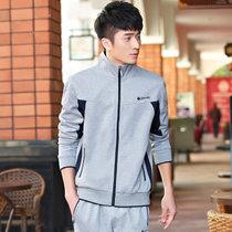 艾酷狼?#20449;?#24773;侣款长袖运动套装卫衣春秋南韩丝运动服L1520(男款灰色 XL)