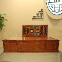 红木家具3.6米红木书桌?#30340;?#21150;公桌大班台非洲黄花梨木