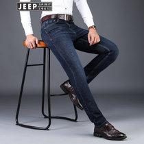 吉普JEEP秋冬牛仔长裤莱赛尔男士微弹舒适柔软护肤天丝棉牛仔裤户外中腰长裤(BJ0011?#35745;?#33394; 42对应腰围3尺1)