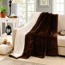 南极人 贝贝绒毯子毛毯 空调毯午睡毯 四季毯子 深咖 双层加厚(深咖)