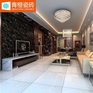 【青橙瓷砖】地砖800*800全抛釉地板砖 客厅地面砖 大理石踢脚线波导
