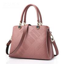 DS.JIEZOU韩版女包手提包单肩包斜跨包时尚商务女士包小包聚会休闲包拎包手腕包2000(粉红色)