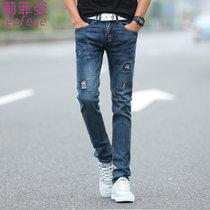 莉菲姿 经典帅气青春时尚男装小裤脚修身弹力牛仔裤(如图)