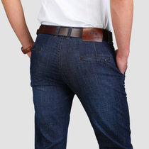 127春夏新款战地吉普AFS JEEP弹力直筒牛仔裤 男士中腰牛仔长裤(深蓝色 42)