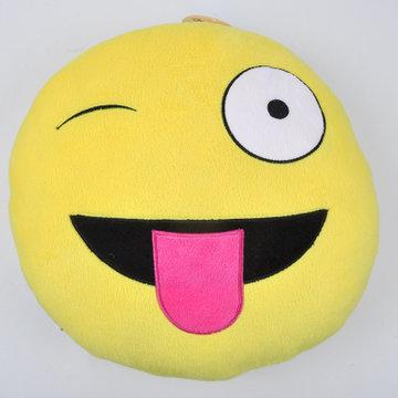 qq表情卡通靠枕 抱枕韩国emoji笑脸 生日毕业礼物(吐舌头)