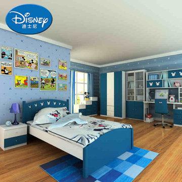 儿童成套家具卧室组合套餐 美式米奇儿童房(床头柜衣柜书桌 1.