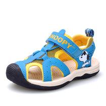 ?#25918;?#27604;童鞋男童凉鞋包头夏季儿童凉鞋男宝宝透气防滑沙滩凉鞋S715326(29码/约188mm 宝兰)