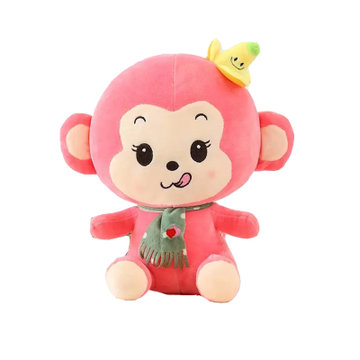猴子 香蕉猴公仔 可爱毛绒玩具布娃娃玩偶 儿童生日礼物送女友(粉色