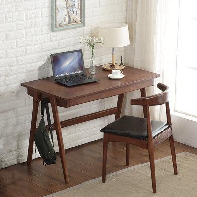 夏树 SZ001 北欧实木书桌椅 (1.2M 单桌+牛角椅)