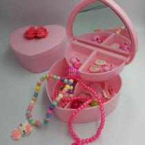 满500赠精美小公主玩具首饰盒一个,内含项链手链戒指梳子发夹发绳钥匙扣等等(粉红色)(粉色)