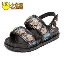小金蛋童鞋儿童凉鞋女孩公主鞋子2019夏季新款女中大童软底沙滩鞋(30 彩色)