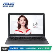 华硕(ASUS) E203NA 11.6英寸笔记本电脑 (intel处理器 4GB 128GB EMMC WIN10 星空灰)