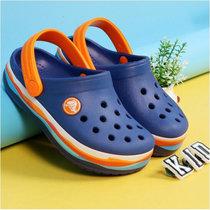 Crocs 卡骆驰童鞋 2019春季新款卡骆班波浪纹小克骆格沙滩鞋洞洞鞋|205697(35 牛仔蓝)