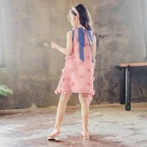女童連衣裙夏裝2019新款兒童超洋氣網紅小女孩夏季裙子大童童裝潮(s 白)