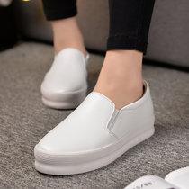 大盛公羊新款乐福鞋女韩版增高厚底懒人一脚蹬女单鞋日常休闲鞋DS1358(白色 40)