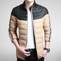 年末大促销 包邮 冬季新款男式棉袄加厚保暖冬装休闲棉衣外套(黑色 L)
