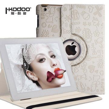 爱酷多(ikodoo)苹果ipad 234 小可爱【升级旋转款】保护套(雅典白)