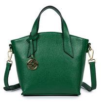 新款頭層牛皮女士手提包包 時尚潮流單肩斜挎女包 H6877(綠色)