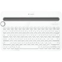 罗技(Logitech)K480 多设备蓝牙键盘  IPAD键盘  手机键盘 时尚键盘女生版 蓝牙鼠标伴侣 白色