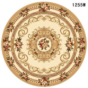 鸣将 传统手工立体雕花欧式圆形地毯客厅餐厅书房卧室