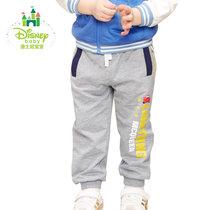 迪士尼Disney童装儿童裤子春秋男童运动长裤可开裆休闲裤171K735(120cm 深花灰)