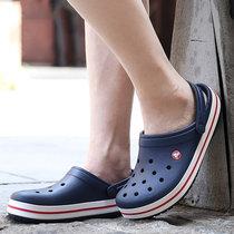Crocs卡骆驰男鞋女鞋夏季户外沙滩鞋卡骆班防滑洞洞鞋拖鞋|11016(深蓝色 36)