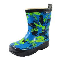 儿童雨鞋防滑加厚天然橡?#21644;?#40486;时尚学生卡通雨靴防水男童外贸水鞋童鞋(蓝色雨鞋 24码(内长16.0cm))