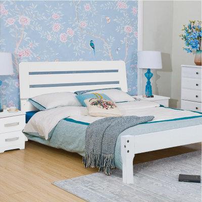 木巴简约现代实木床1.5 1.8米双人床