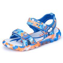 ?#25918;?#27604;童鞋夏季儿童凉鞋舒适透气男童凉鞋迷彩帅气沙滩凉鞋S716835(29码/约188mm 宝兰)