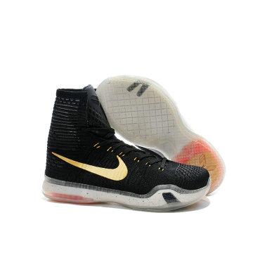 专柜* 耐克/nike 科比10代高帮篮球鞋 kobe10篮球鞋 编织 精英紫 黑白