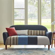 TIMI北欧简约布艺沙发 现代经济型沙发 田园创意沙发 单人双人三人组合沙发 小户型沙发组合(深灰色 双人沙发)