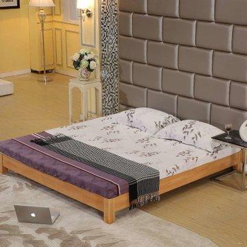 木帆床 榻榻米实木床 1.2 1.5 1.8米 折叠 单人 宜家