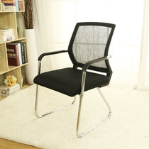 匠林家私电脑椅网?#21450;?#20844;椅会议椅职员固定脚椅子(黑色 黑框)