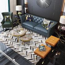 银卧 现代轻奢头层牛皮真皮沙发小户型客厅三人沙发可定制颜色尺寸(定制颜色 组合)