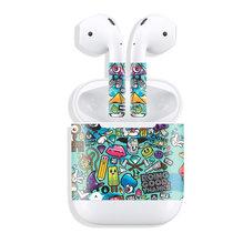 苹果AirPods耳机贴纸外壳保护贴膜无线耳机盒套防丢个性全包配件(A-46送耳套)