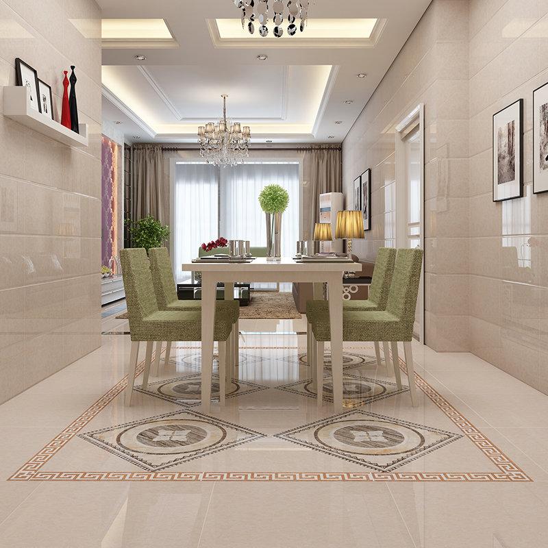 樓蘭瓷磚全拋釉拼花地板磚 餐廳客廳地磚600 600全拋釉瓷磚 防滑瓷磚