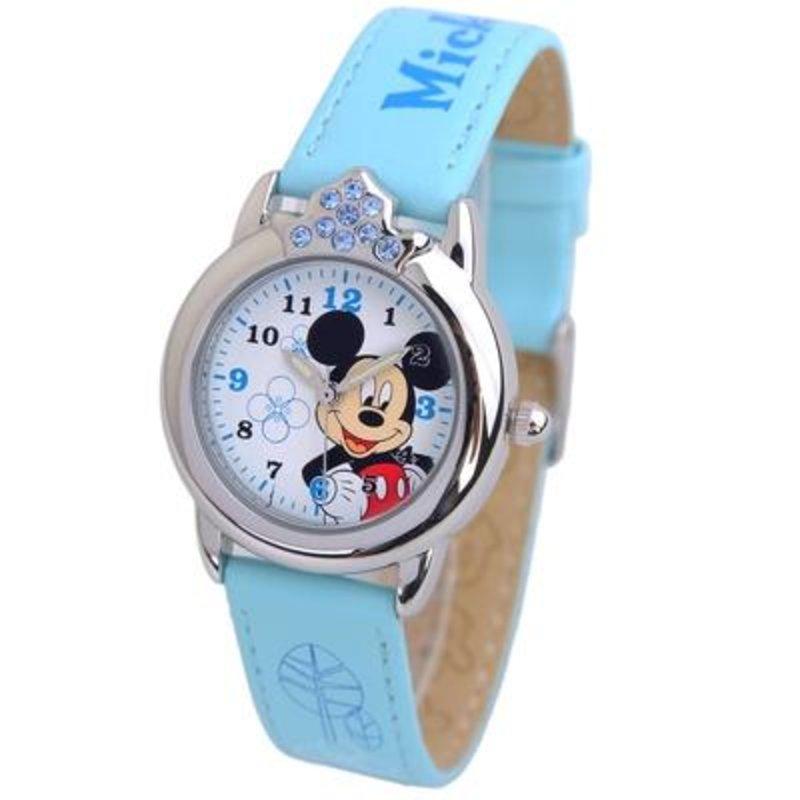 迪士尼 可爱皇冠小女孩学生女童卡通米奇儿童手表4790