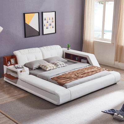 历史低价: A家家具 真皮床单床+榻榻米 1.5米 2799元包邮(立减)