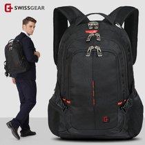 送刀锁!瑞士军刀14.6寸笔记本双肩电脑背包双肩背包男韩版女学生书包旅行包