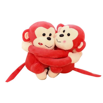 可爱情侣猴子抱抱猴 毛绒玩具公仔玩偶儿童生日礼物猴