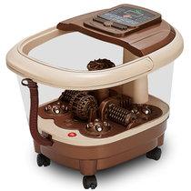 贻康YK-638喷淋足浴盆全自动按摩洗脚盆电动加热泡脚机深桶恒温家用足疗器(咖啡色 YK-638C)